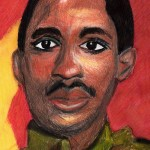Thomas Sankara caricature cartoon Karikatur dessin peinture aquarelle Burkina Faso