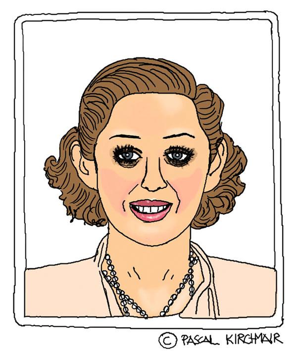 Marion Cotillard cartoon Karikatur caricature portrait dessin Zeichnung