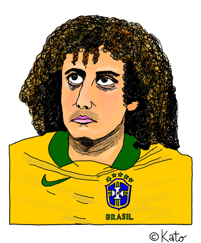 David Luiz Karikatur caricature cartoon Portrait