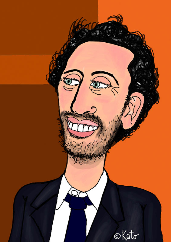 Gad Elmaleh cartoon caricature Karikatur vignetta portrait